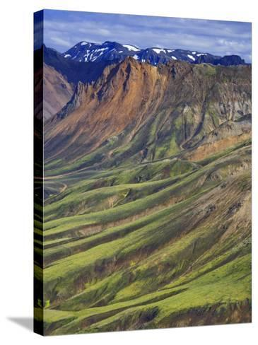 Mountain Slopes, Landmannalaugar, Fjallabak Nature Reserve, Central Iceland-Michele Falzone-Stretched Canvas Print