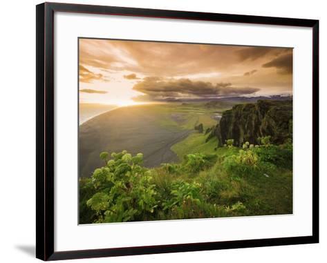 Black Sand Beach, Dyrholaey, South Coast, Iceland-Michele Falzone-Framed Art Print