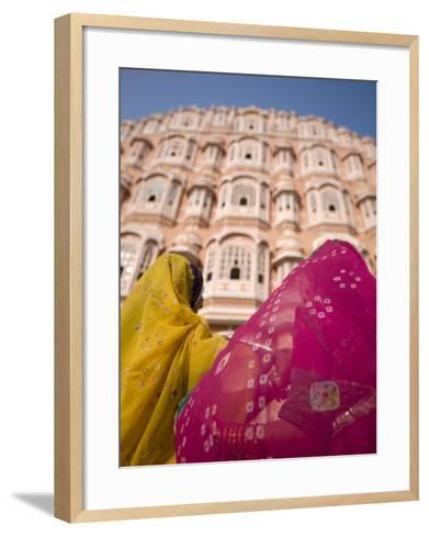 Young Women in Traditional Dress, Palace of the Winds, Jaipur, Rajasthan, India-Doug Pearson-Framed Art Print
