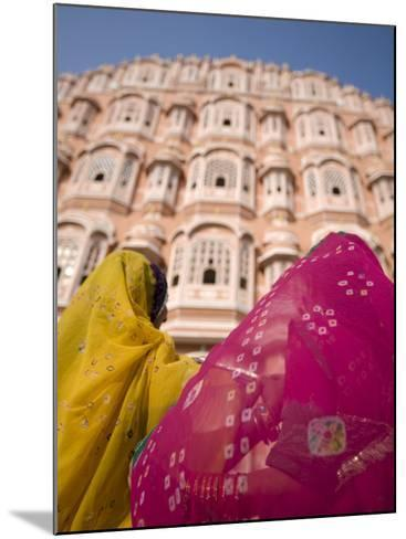 Young Women in Traditional Dress, Palace of the Winds, Jaipur, Rajasthan, India-Doug Pearson-Mounted Photographic Print