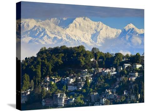 Darjeeling and Kanchenjunga, West Bengal, India-Jane Sweeney-Stretched Canvas Print