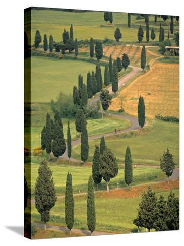 Monticchiello, Tuscany, Italy-Walter Bibikow-Stretched Canvas Print