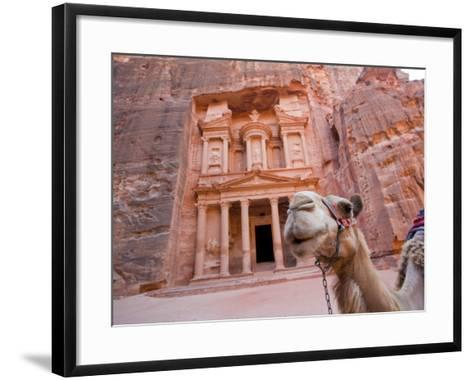The Treasury, Petra, Jordan-Michele Falzone-Framed Art Print
