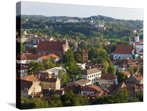 Vilniusview over the Old Town, Lithuania-Gavin Hellier-Stretched Canvas Print