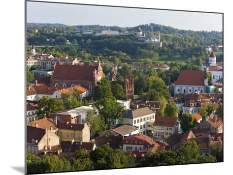 Vilniusview over the Old Town, Lithuania-Gavin Hellier-Mounted Photographic Print