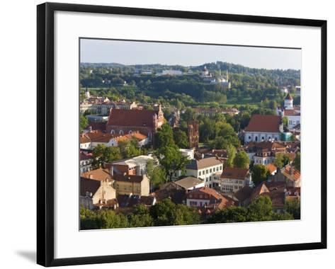Vilniusview over the Old Town, Lithuania-Gavin Hellier-Framed Art Print