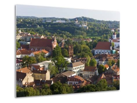 Vilniusview over the Old Town, Lithuania-Gavin Hellier-Metal Print