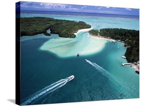 Aerial View over Mauritius-Neil Farrin-Stretched Canvas Print