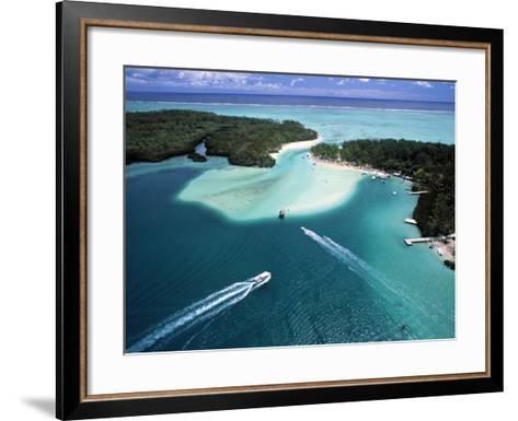 Aerial View over Mauritius-Neil Farrin-Framed Art Print