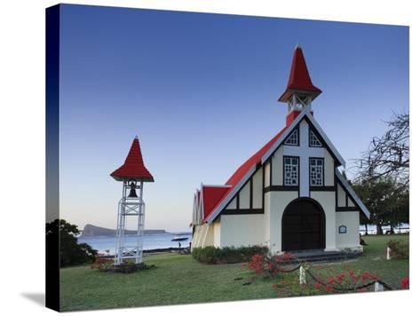 Notre Dame Auxiliatrice Church, Cape Malheureux, Mauritius, Indian Ocean-Michele Falzone-Stretched Canvas Print
