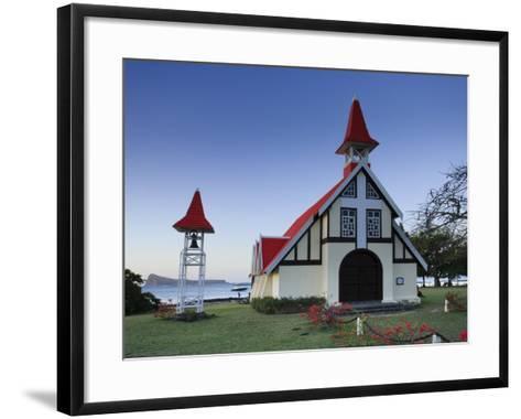 Notre Dame Auxiliatrice Church, Cape Malheureux, Mauritius, Indian Ocean-Michele Falzone-Framed Art Print