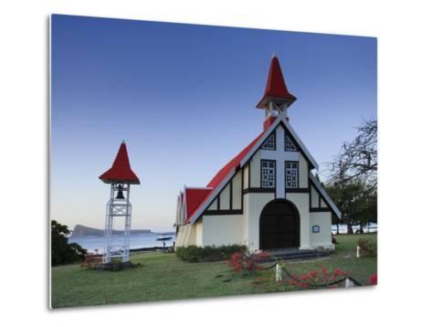 Notre Dame Auxiliatrice Church, Cape Malheureux, Mauritius, Indian Ocean-Michele Falzone-Metal Print