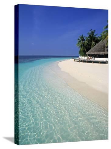 Tropical Beach, Maldives, Indian Ocean-Jon Arnold-Stretched Canvas Print
