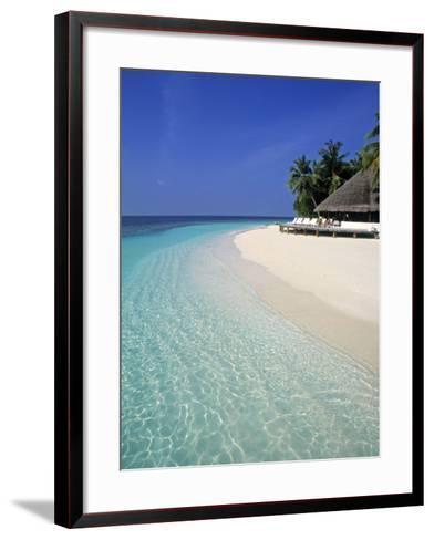 Tropical Beach, Maldives, Indian Ocean-Jon Arnold-Framed Art Print