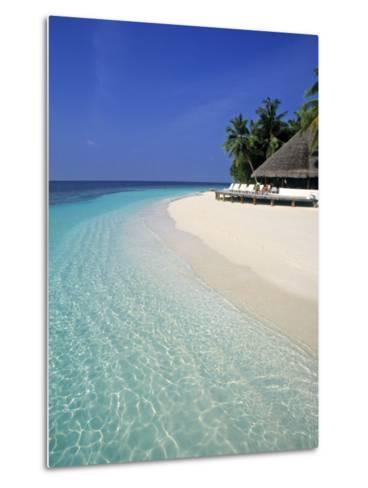 Tropical Beach, Maldives, Indian Ocean-Jon Arnold-Metal Print