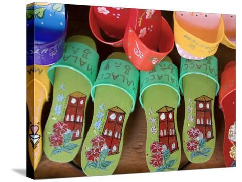 Sandals for Sale in Chinatown, Melaka, Malaysia-Peter Adams-Stretched Canvas Print