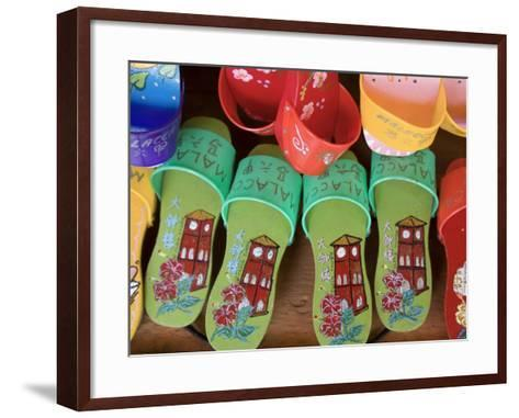 Sandals for Sale in Chinatown, Melaka, Malaysia-Peter Adams-Framed Art Print