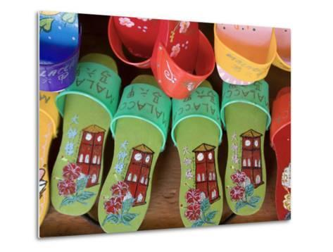 Sandals for Sale in Chinatown, Melaka, Malaysia-Peter Adams-Metal Print
