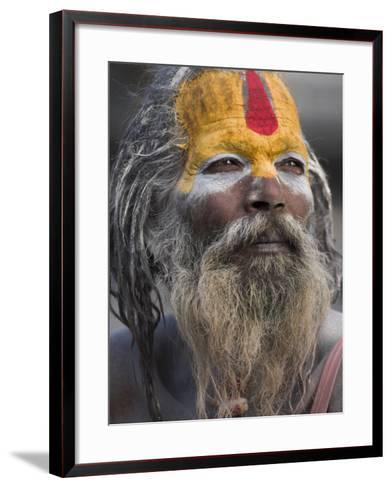 Sadhu, Shivaratri Festival, Pashupatinath Temple, Kathmandu, Nepal-Jane Sweeney-Framed Art Print