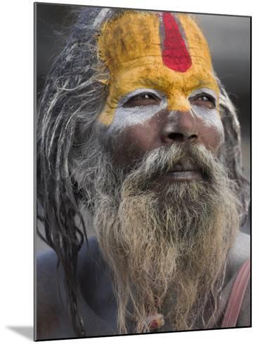 Sadhu, Shivaratri Festival, Pashupatinath Temple, Kathmandu, Nepal-Jane Sweeney-Mounted Photographic Print