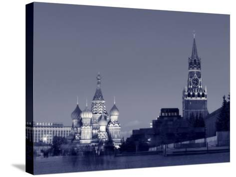 St. Basil's Cathedral and Kremlim, Red Square, Moscow, Russia-Jon Arnold-Stretched Canvas Print