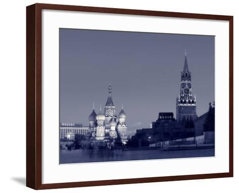 St. Basil's Cathedral and Kremlim, Red Square, Moscow, Russia-Jon Arnold-Framed Art Print