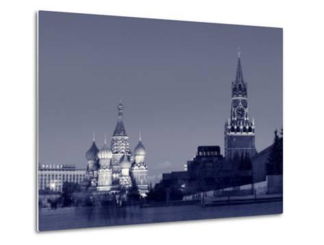 St. Basil's Cathedral and Kremlim, Red Square, Moscow, Russia-Jon Arnold-Metal Print