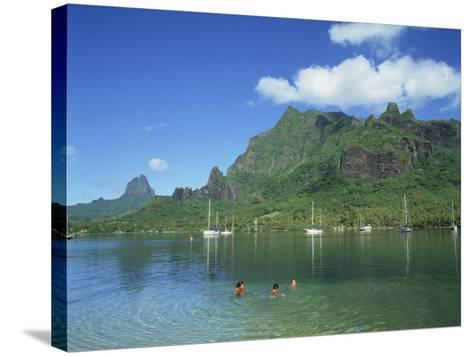 Cooks Bay, Moorea Island, Tahiti, French Polynesia-Steve Vidler-Stretched Canvas Print