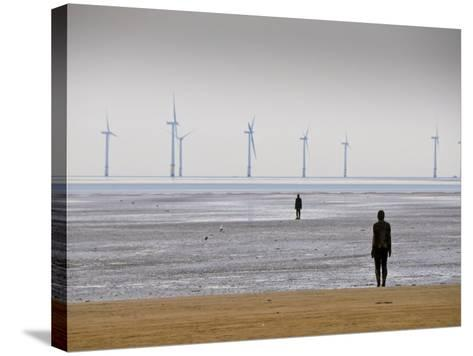 Anthony Gormleys Another Place, Crosby Beach, Merseyside, England, UK-Alan Copson-Stretched Canvas Print