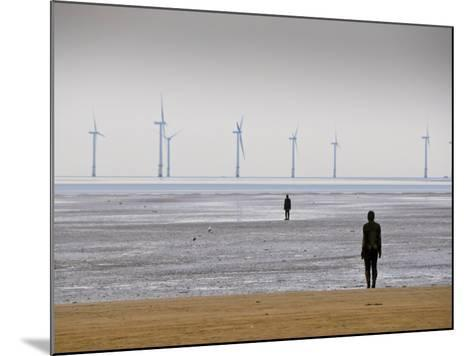 Anthony Gormleys Another Place, Crosby Beach, Merseyside, England, UK-Alan Copson-Mounted Photographic Print