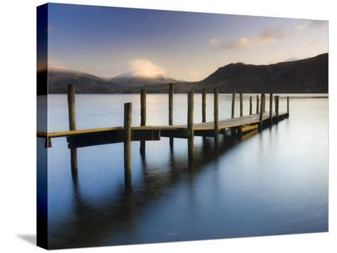Brandelhow Bay Jetty, Derwentwater, Keswick, Lake District, Cumbria, England-Gavin Hellier-Stretched Canvas Print