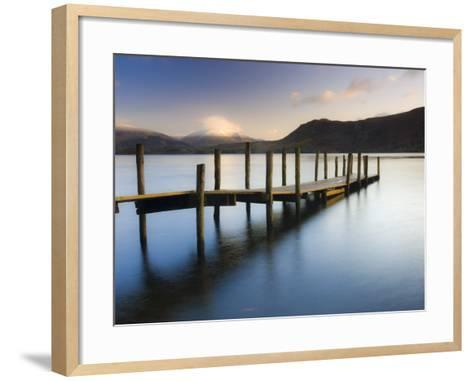 Brandelhow Bay Jetty, Derwentwater, Keswick, Lake District, Cumbria, England-Gavin Hellier-Framed Art Print
