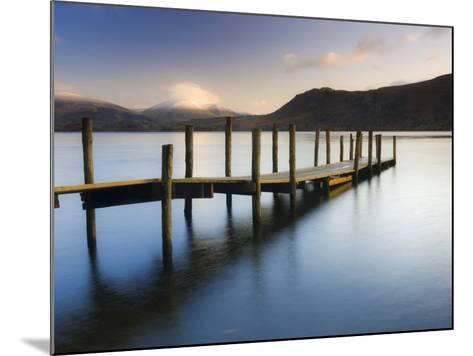 Brandelhow Bay Jetty, Derwentwater, Keswick, Lake District, Cumbria, England-Gavin Hellier-Mounted Photographic Print