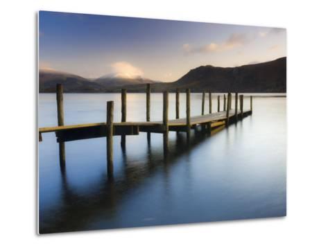 Brandelhow Bay Jetty, Derwentwater, Keswick, Lake District, Cumbria, England-Gavin Hellier-Metal Print