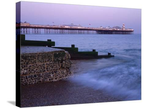 Palace Pier, Brighton, East Sussex, England, UK-Jon Arnold-Stretched Canvas Print