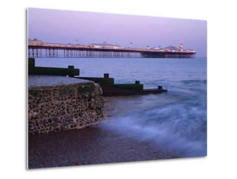 Palace Pier, Brighton, East Sussex, England, UK-Jon Arnold-Metal Print