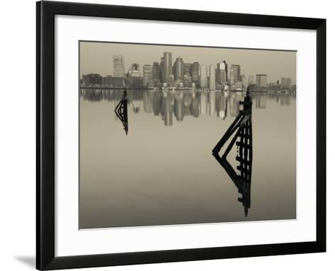 East Boston, Financial District from Logan Airport, Boston, Massachusetts, USA-Walter Bibikow-Framed Art Print