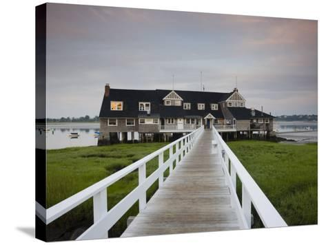 Annisquam Yacht Club, Gloucester, Cape Ann, Massachusetts, USA-Walter Bibikow-Stretched Canvas Print