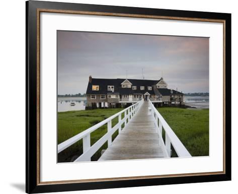 Annisquam Yacht Club, Gloucester, Cape Ann, Massachusetts, USA-Walter Bibikow-Framed Art Print
