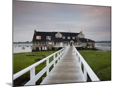 Annisquam Yacht Club, Gloucester, Cape Ann, Massachusetts, USA-Walter Bibikow-Mounted Photographic Print