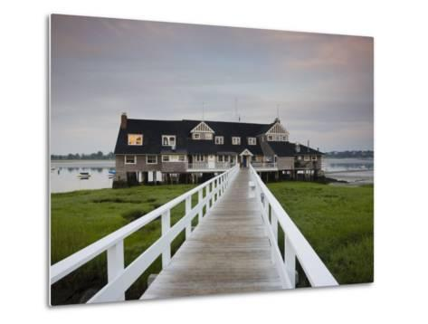 Annisquam Yacht Club, Gloucester, Cape Ann, Massachusetts, USA-Walter Bibikow-Metal Print