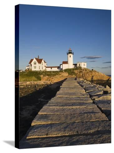 Eastern Point Lighthouse, Gloucester, Cape Ann, Massachusetts, USA-Walter Bibikow-Stretched Canvas Print