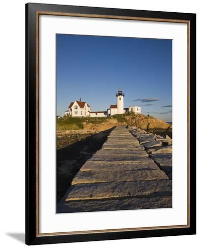 Eastern Point Lighthouse, Gloucester, Cape Ann, Massachusetts, USA-Walter Bibikow-Framed Art Print