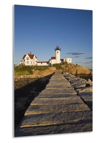 Eastern Point Lighthouse, Gloucester, Cape Ann, Massachusetts, USA-Walter Bibikow-Metal Print