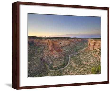 Ute Canyon, Colorado National Monument, Great Junction, Colorado, USA-Michele Falzone-Framed Art Print