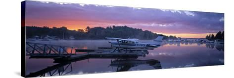 Naples Marina, Sebago Lake, Maine, USA-Walter Bibikow-Stretched Canvas Print