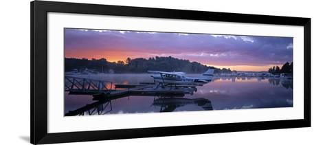 Naples Marina, Sebago Lake, Maine, USA-Walter Bibikow-Framed Art Print