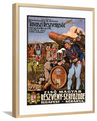 Resveny-Serfozode: Budapest , Hungary Beer, c.1914--Framed Art Print