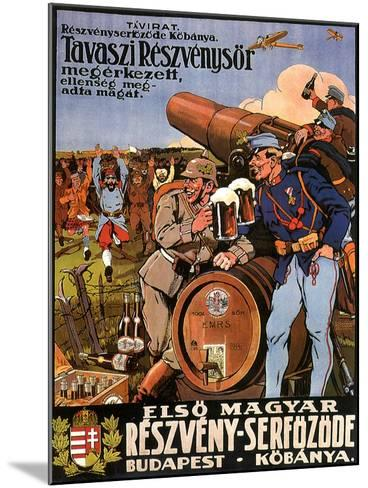Resveny-Serfozode: Budapest , Hungary Beer, c.1914--Mounted Giclee Print