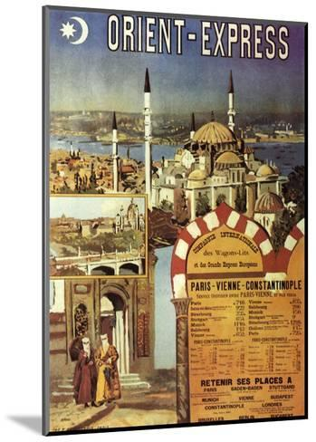 Orient-Express--Mounted Giclee Print